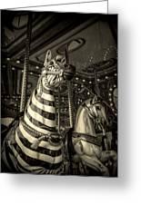 Carousel Zebra Greeting Card