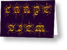 Carpediem Redgold Greeting Card