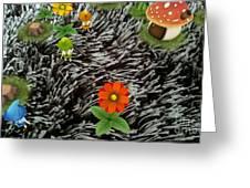 Carpet Under Water Greeting Card