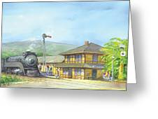 Carpinteria Train Depot Greeting Card