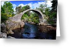 Carr Bridge Scotland Greeting Card