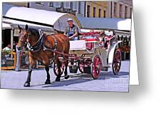 Carriage Through The City Greeting Card