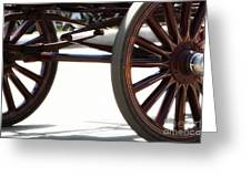 Carriage Wheels Greeting Card
