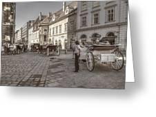 Carriages Back To Stephanplatz Greeting Card