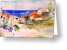 Carribean Village Greeting Card