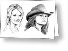 Carrie And Carrie Underwood Greeting Card