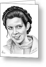 Carrie Fisher Greeting Card