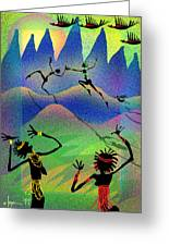 Carried Away By Her Imagination Greeting Card