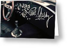Carroll Shelby Signed Dashboard Greeting Card