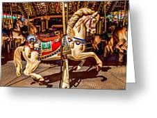 Carrousel Horse Ride Greeting Card