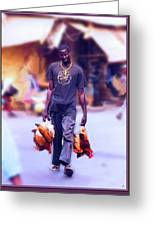 Carrying Chickens To Dakar Greeting Card