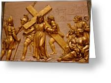 Carrying Cross Greeting Card