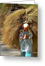 Carrying The Hay Greeting Card
