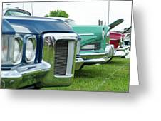 Cars Show Greeting Card