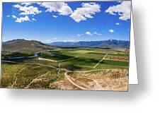 Carson Valley Panorama Greeting Card