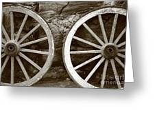 Cart Wheels Greeting Card