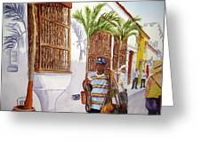 Cartagena Peddler I Greeting Card