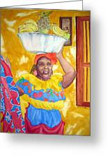 Cartagena Peddler II Greeting Card