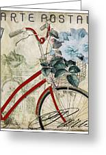 Carte Postale Vintage Bicycle Greeting Card