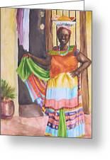 Cartegena Woman Greeting Card