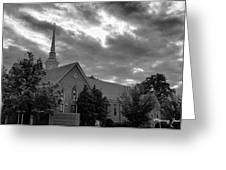 Carter Chapel Bridgewater College Va - Bw 1 Greeting Card