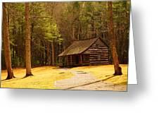 Carter Shields Cabin Greeting Card