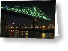 Cartier Bridge Night Greeting Card