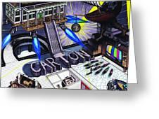 Carton Album Cover Artwork Front Greeting Card