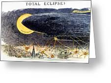 Cartoon: Airship Raid 1914 Greeting Card