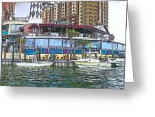 Cartoon Boats Greeting Card