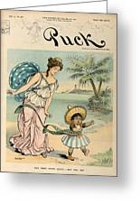 Cartoon: Cuba, 1902 Greeting Card
