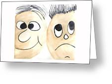 Cartoon Faces Greeting Card