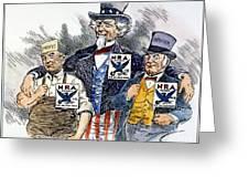 Cartoon: New Deal, 1933 Greeting Card