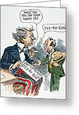 Cartoon: New Deal, 1935 Greeting Card