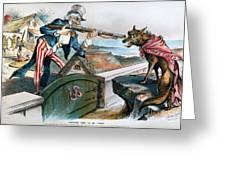 Cartoon: Panic Of 1893 Greeting Card