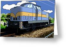 Illustrated Train Greeting Card