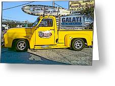 Cartoon Truck Greeting Card