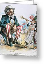 Cartoon: Uncle Sam, 1893 Greeting Card