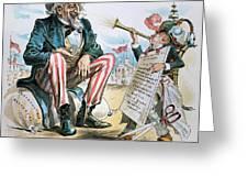 Cartoon: Uncle Sam, 1893 Greeting Card