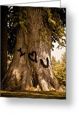 Carve I Love You In That Big White Oak Greeting Card