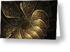 Carved In Gold Greeting Card