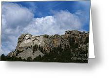 Carved In Stone For Eternity Greeting Card