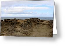 Carved Sandstone Along The Oregon Coast - 6 Greeting Card