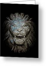 Carved Stone Lion's Head Greeting Card