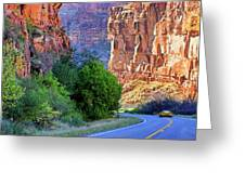 Carving The Canyons - Unaweep Tabeguache - Colorado Greeting Card