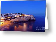 Carvoeiro In The Algarve Portugal At Night Greeting Card