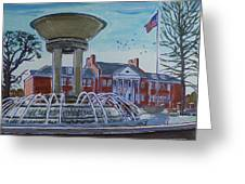 Cary Arts Center And Fountain Greeting Card