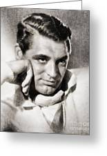 Cary Grant, Hollywood Legend By John Springfield Greeting Card