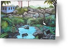 Casa Tropical Greeting Card