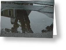 Casa Uno Puddle Greeting Card by Ron Sylvia